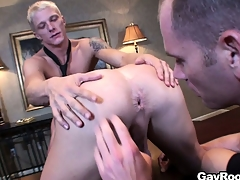 Respectful Marc Dylan participates in ass-licking merry show with pretty guys