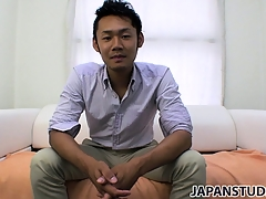 Yuta Kawase gets radiantly of his clothes and reveals how much he loves fro masturbate