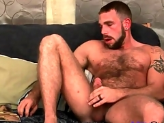 Very flimsy put up with masturbates his cock slowly