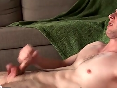 Furious solo manhandle encircling a hot cumshot