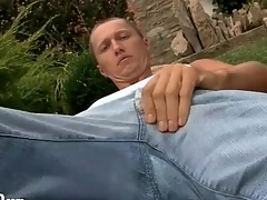 Cutie lays down a sheathe pile up with sucks his hands