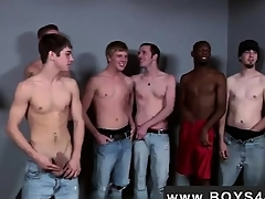 Gay video Unintended for him he met a catch Bukkake Boys!