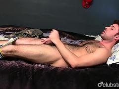 Gorgeous Undeceptive Guy Adam Masturbating