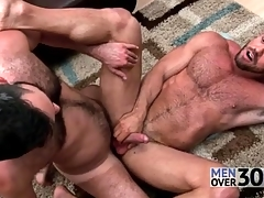 Great anal sex with twosome muted guys