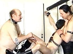 Deny camouflaged waiting upon gets his cock and balls tortured