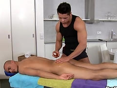 Fleshly with the addition of hawt massage session for pretty twinks