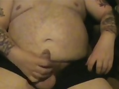 Fat Aged Guy Wanking Three