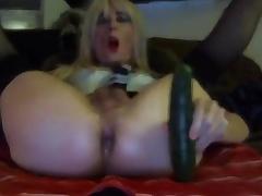 Sexy Tasha Swift Crossdresser Cucumber Blowjob Shafting