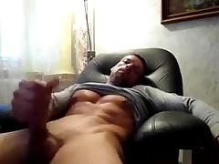 Str8 daddy stroke & cum recognizing porn