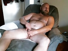 Dishy guy is masturbating in rub-down the lodger room and filming himself on webcam