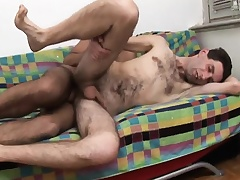 Twink spanks ass and then gives him head up ahead he gets his ass nailed